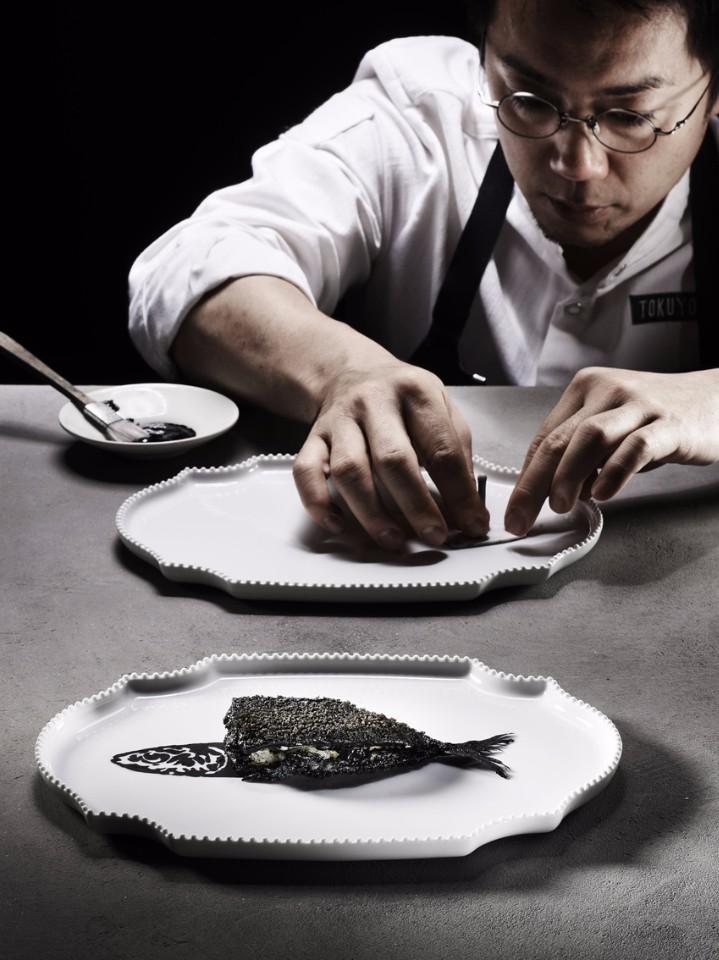 德吉洋二與經典菜色Gyotaku。