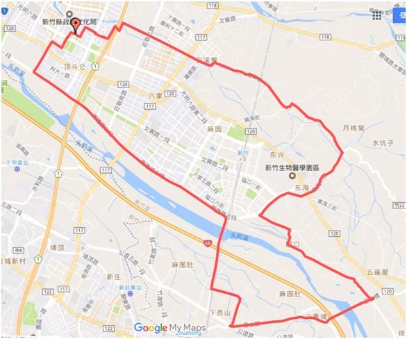 新竹場路線(翻攝自活動官網)