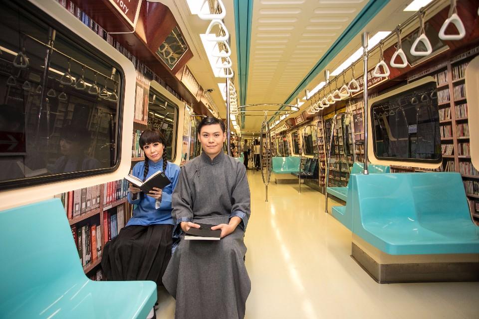 車廂發表有角色扮演,陪大家一起搭捷運。兩廳院表示,之後有可能再規劃相關活動。(提供/兩廳院)