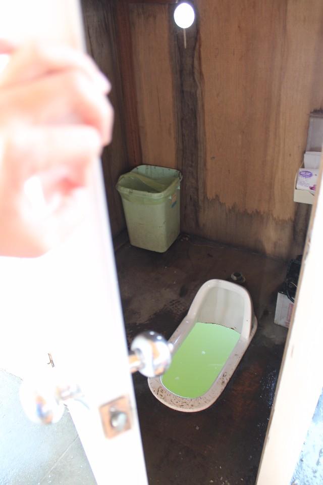 值得參觀的船上廁所,沒敢上,哈!