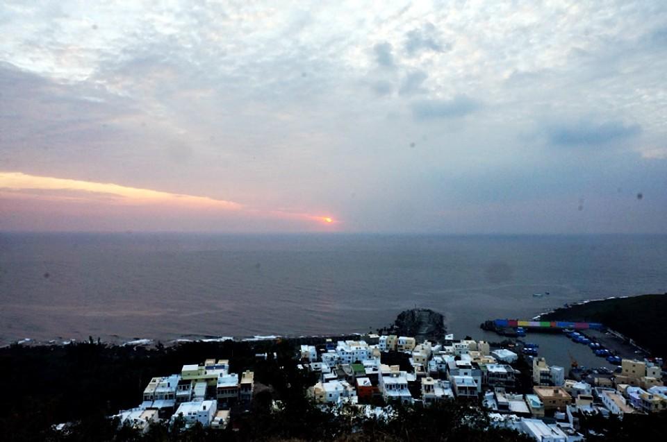 有小希臘之稱的山海漁港。(攝影/林郁姍)