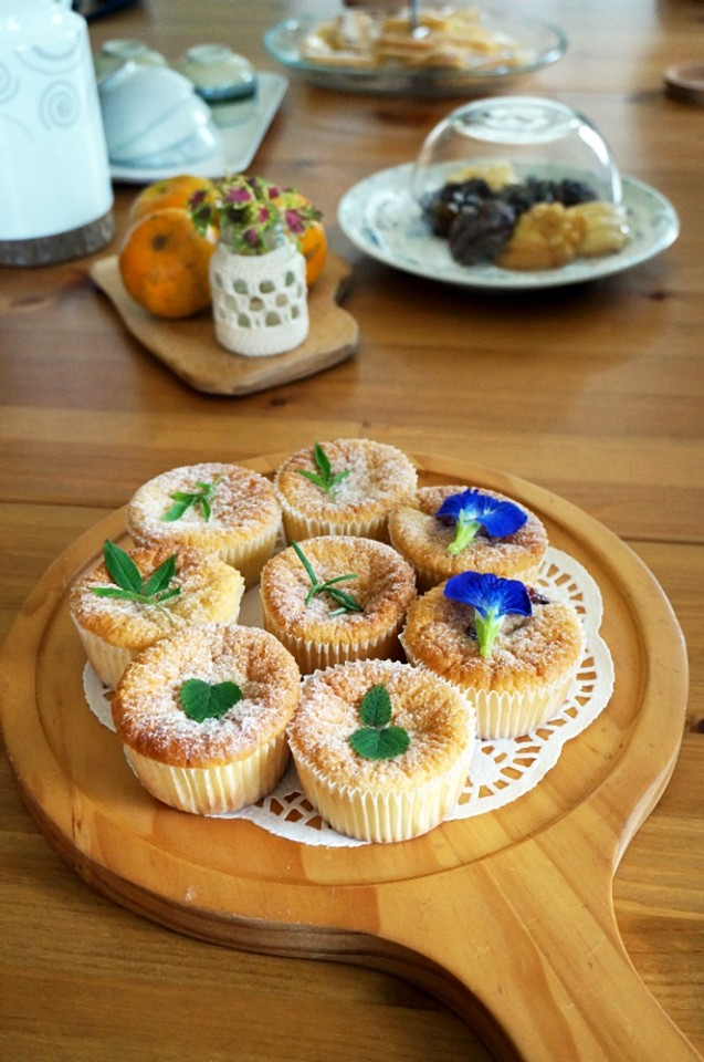 夏綠地的Sandy喜歡烘焙,房客可以享用到她的好手藝。(攝影/林郁姍)