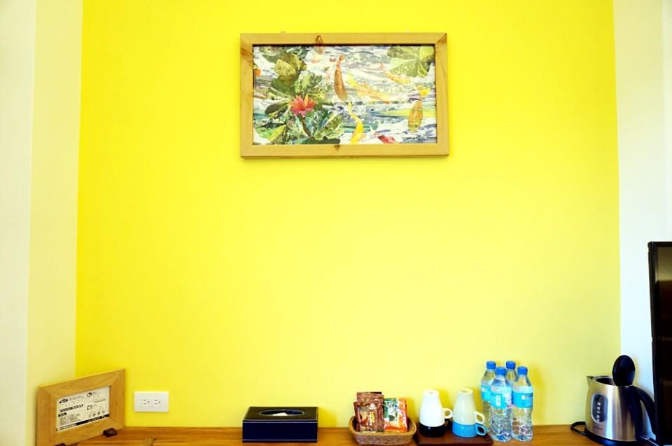 鯉魚是陳春華最得意的拼布作品。(攝影/林郁姍)