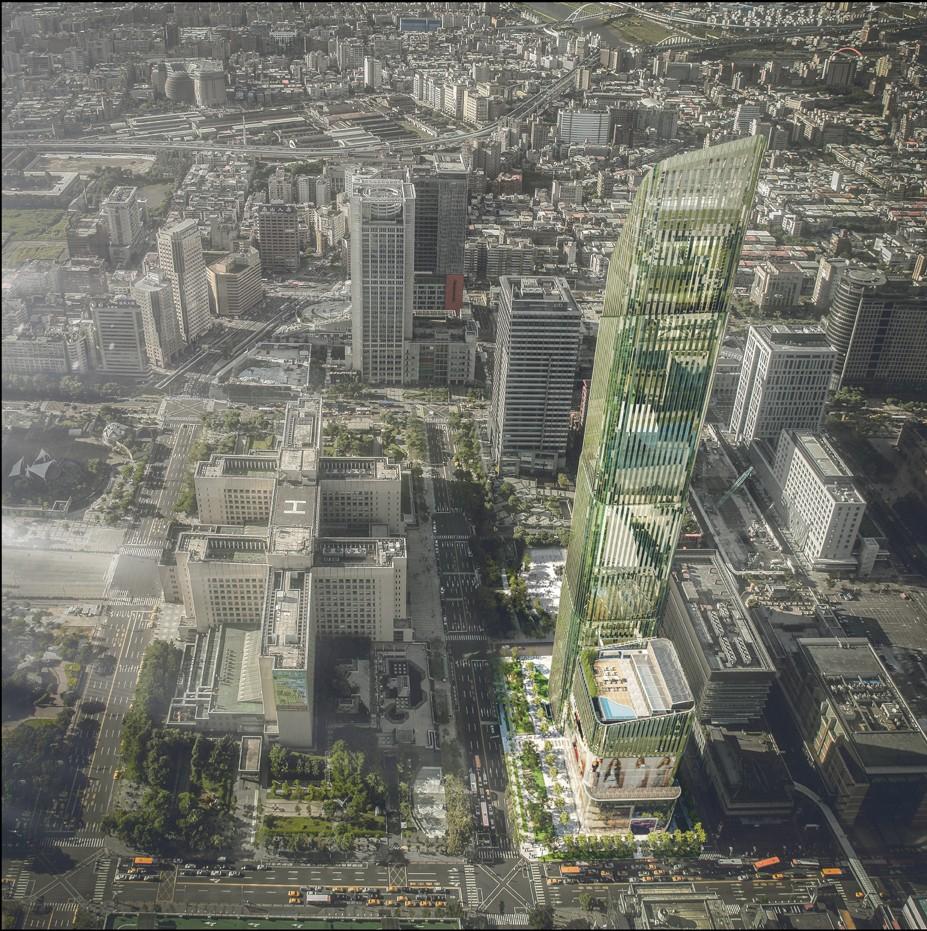 Taipei Sky Tower示意圖。(碩河開發提供)
