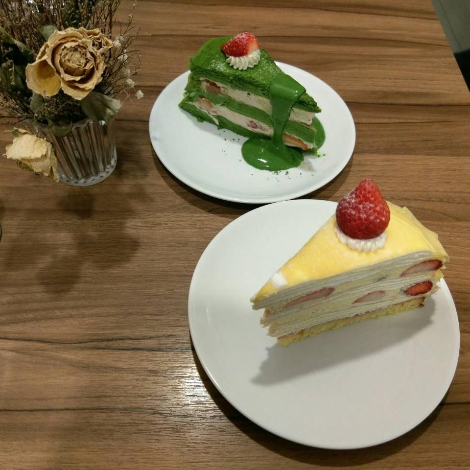 台北國父紀念館 下午茶 Sweet Tooth   小山園抹茶草莓千層X北海道草莓千層
