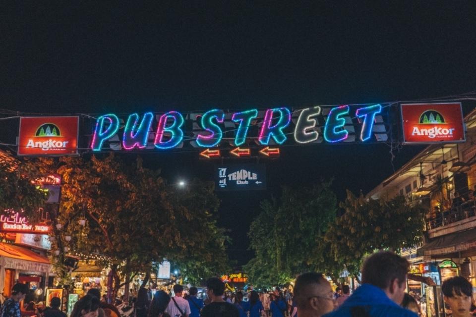 柬埔寨 暹粒 夜市 酒吧街 PUB STREET