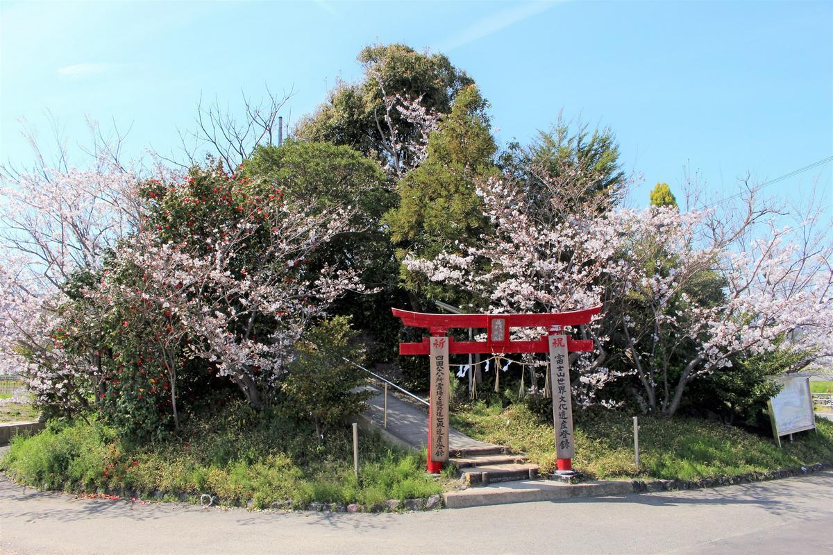 德島弁天山與櫻花