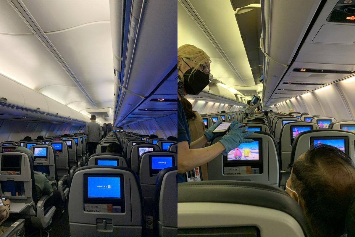 由雄獅同仁親自前往體驗,在東京轉機搭乘聯合航空前往關島,根據觀察乘客多為當地居民