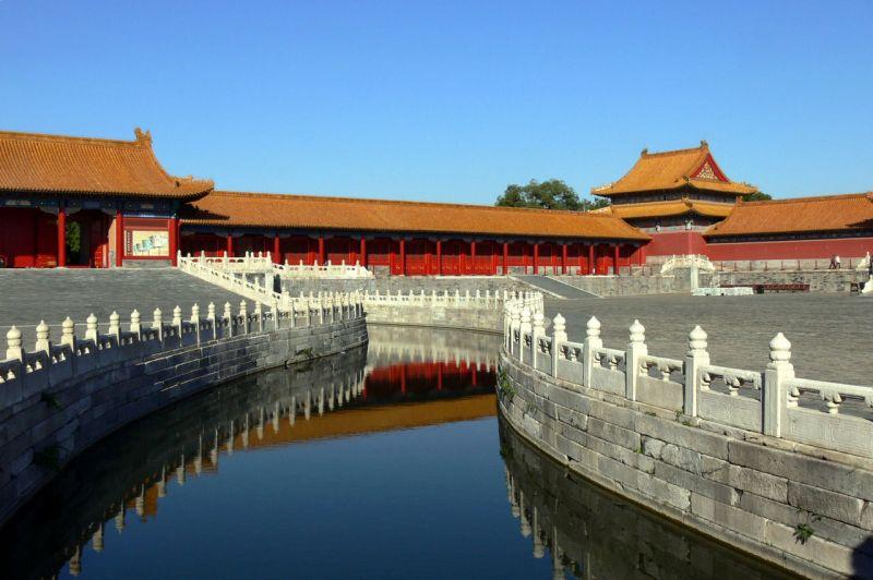 紫禁城內的河不光只是裝飾,其實都是建築者排水系統的大智慧!! (內金河,圖片來源維基百科)