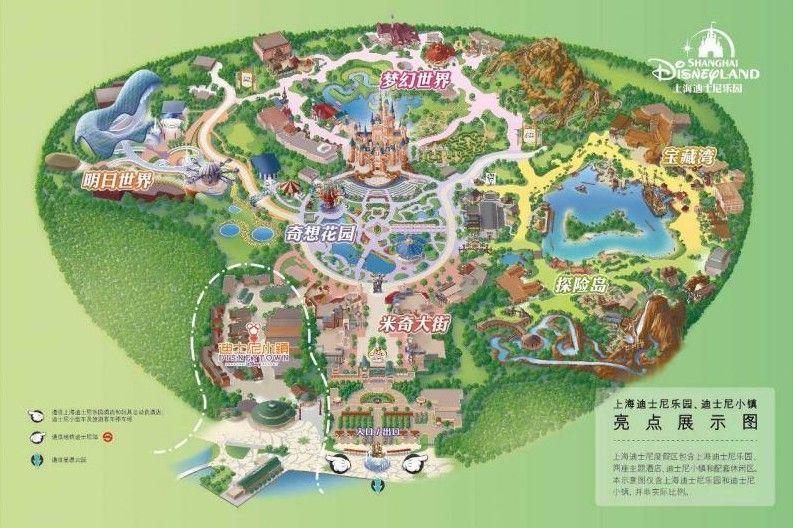 上海迪士尼六大園區景點位置(圖:上海迪士尼度假區 官方網站)