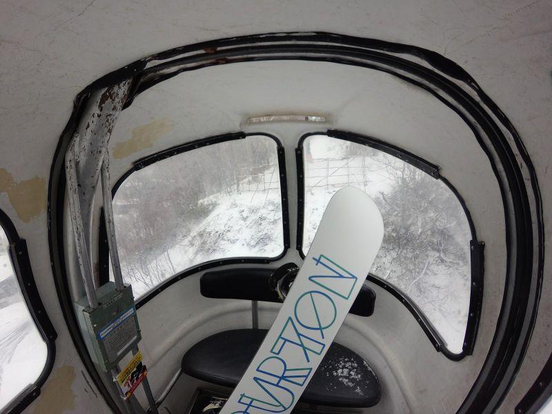 東館山Gondola內部,有點窄。(photo by 阿福)