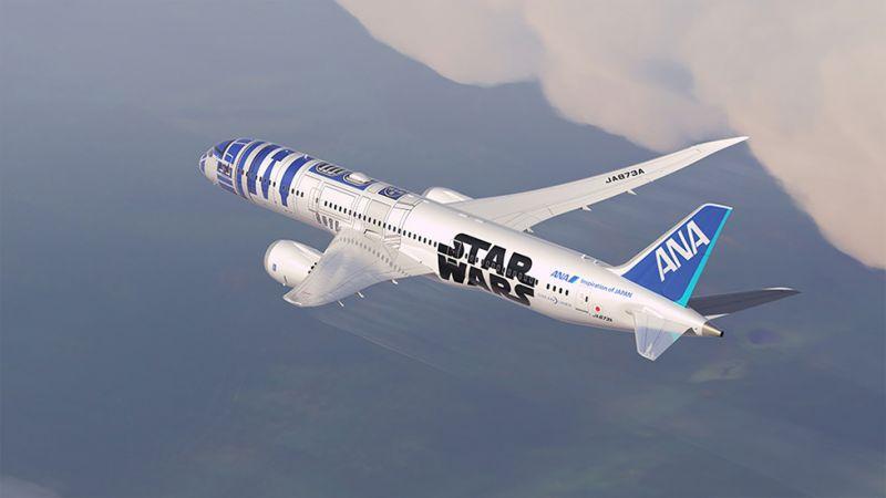 4/16日本ANA全日空最受歡迎的星際大戰彩繪機R2-D2即將飛來松山機場! 圖/翻攝自日本ANA官網