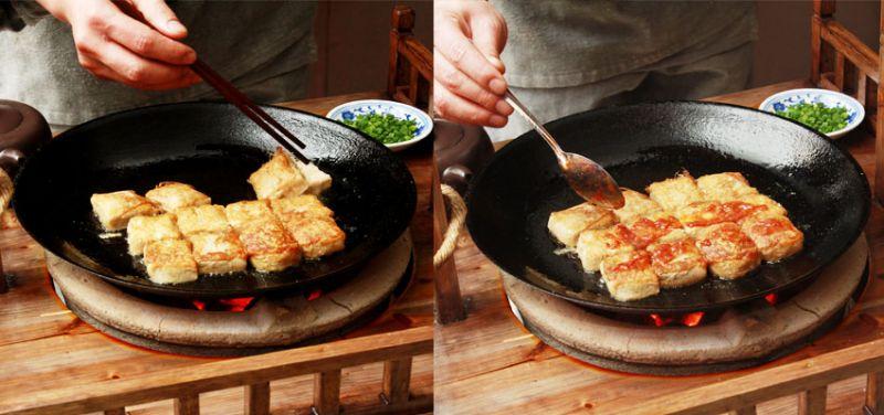 深度臭豆腐由師傅現場製作,來客可以親自看到毛豆腐原始模樣變成美味佳餚。(圖片來源:安徽繁體官網)