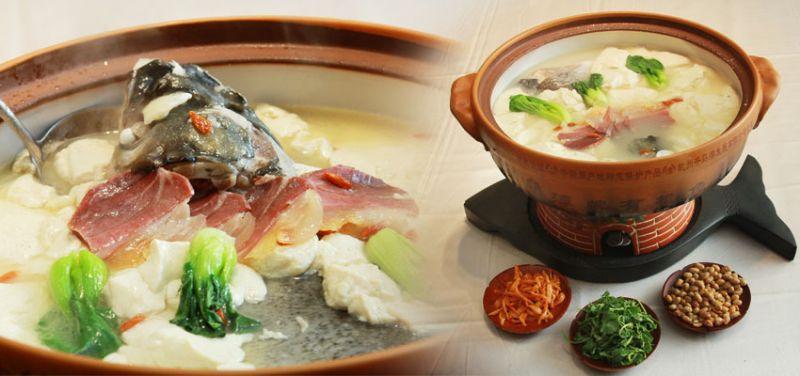 魚頭王,以當地新鮮的魚頭加上火腿、豆腐等配料,精心熬煮的魚湯鮮味美。(圖片來源:安徽繁體官網)