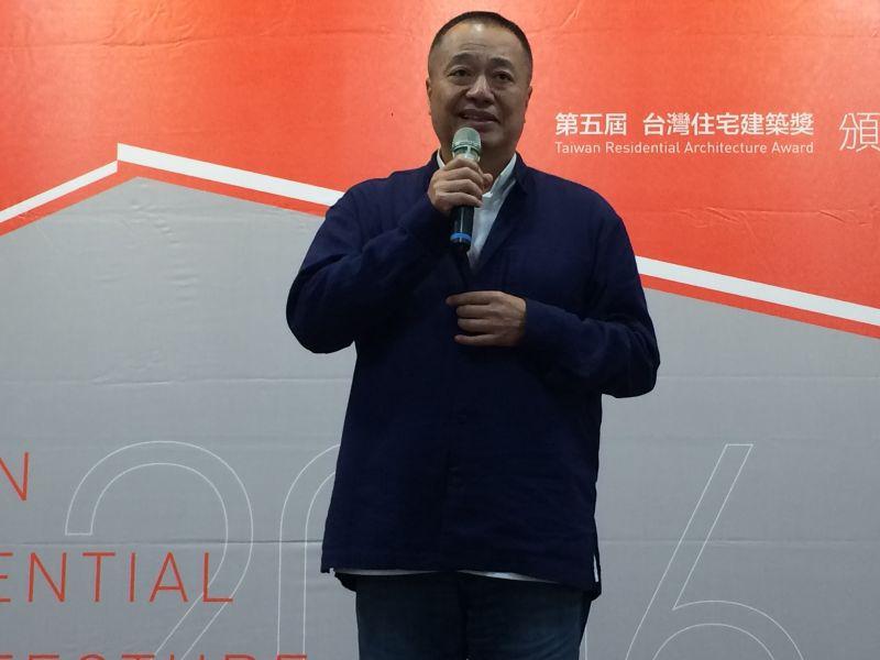 決選評審大隱開發董事長張裕能致詞;攝影:吳宜晏