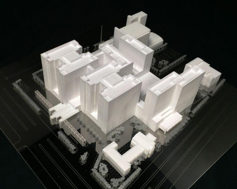 台大醫院模型;圖片提供/國立臺灣科技大學設計學院