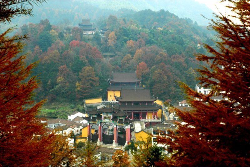 九華山美景。圖片來源:安徽繁體官網 http://bit.ly/1RrPEo8
