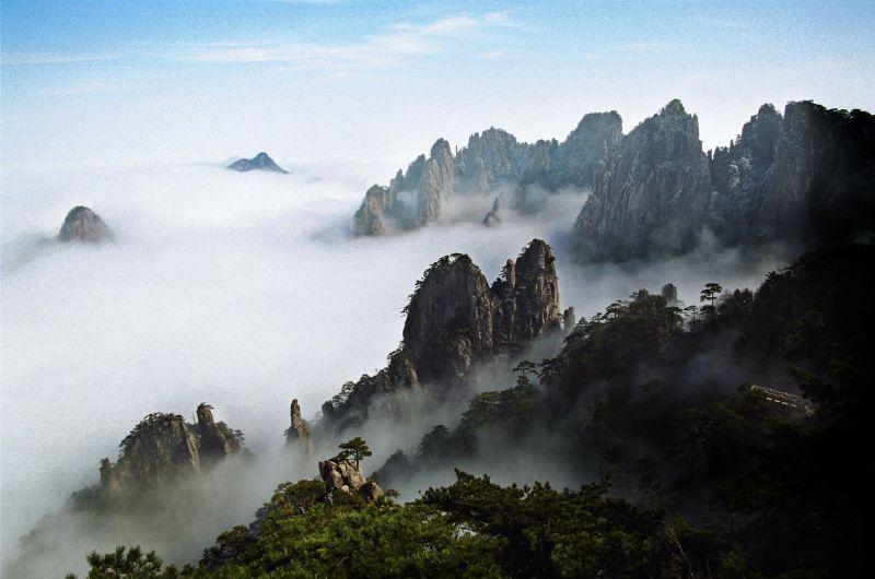 黃山美景。圖片來源:安徽繁體官網 http://bit.ly/1RrPEo8