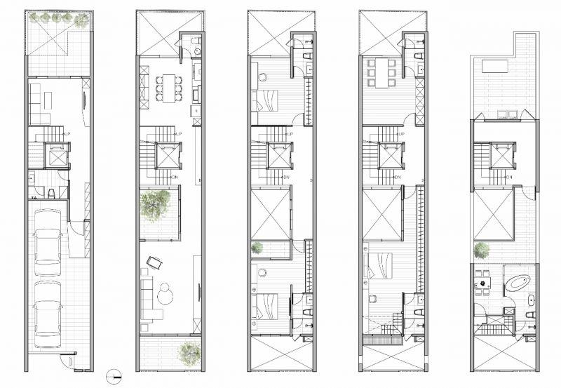 各層平面圖;圖片提供:大山建築與室內設計團隊