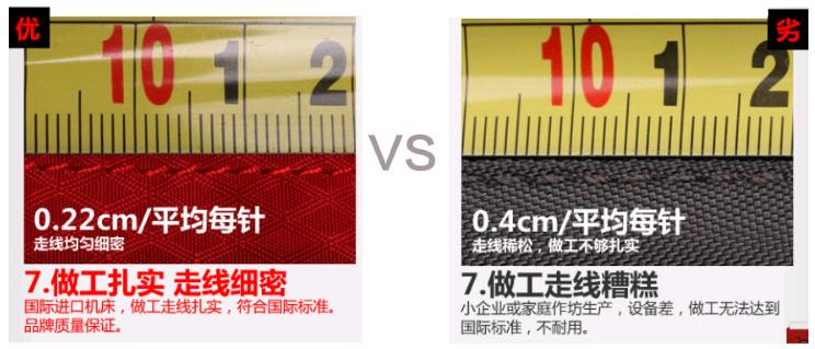 容易拉扯到的部份要特別注意車縫線的做工品質 圖/翻攝自淘寶網