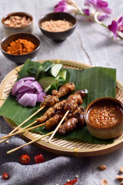 沙嗲烤雞肉串。(Asia 49亞洲料理及酒廊提供)