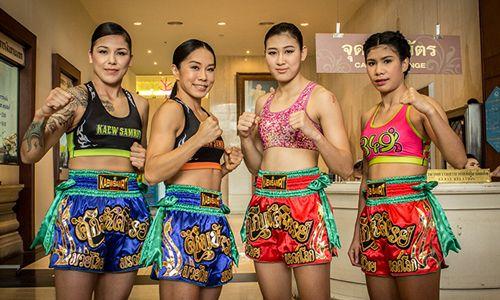 女子學泰拳,會有專屬課程,並由女拳師來教學,男性不能與女性對打!(圖/泰觀局)