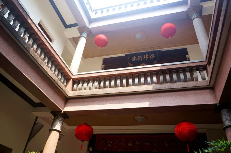 捷發乾記茶莊保留有天井。(Sheila Hsu攝影)