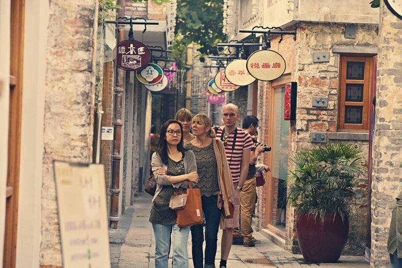 佛山嶺南天地是全球第一件LEED ND認證設計案;圖片提供 / Foshan Shui On Property Development Co Ltd