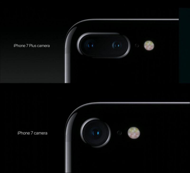 iPhone 7與iPhone 7 Plus的鏡頭 圖/翻攝自官網