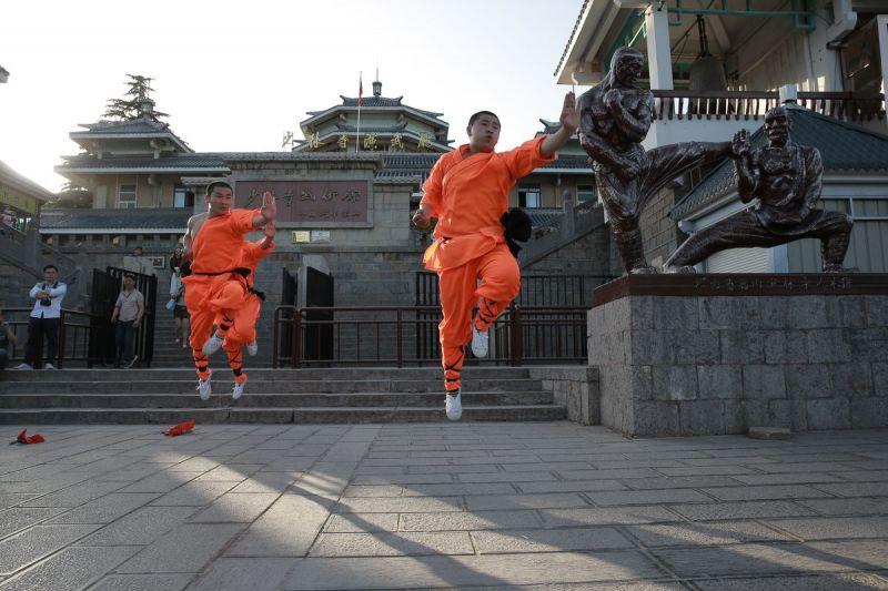 少林寺武術表演。