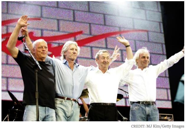 平克佛洛伊德四位經典陣容在2005年時最後一次重聚演出。(翻攝自stereogum)