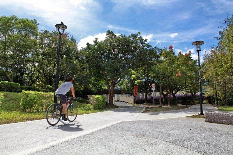 三峽區溪北河濱公園自行車道及牽引道。(翻攝自新北市政府官網)